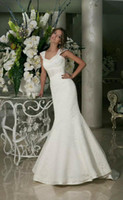band portraits - Cap Sleeve Sweetheart Beaded Mermaid Wedding Dresses With Beaded Band Fitted Bride Gown Court Train