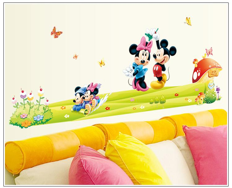 Mickey U0026 Minnie Mouse Wall Sticker Cartoon DIY Home Decoration Sticker Boys  Girls Kids Room Decor Mural Art Decals Nursery Wallpaper Decor Mickey U0026  Minnie ... Part 44