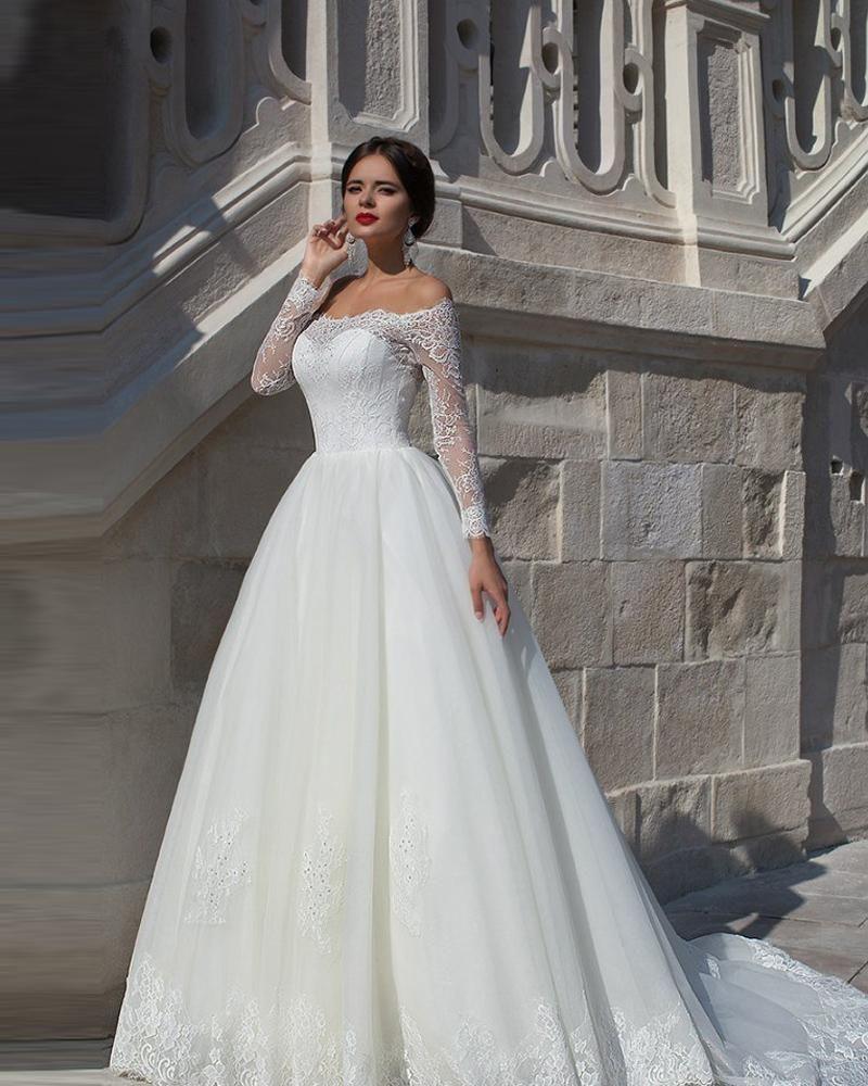 Wholesale 2016 wedding dresses long sleeved vintage lace wedding