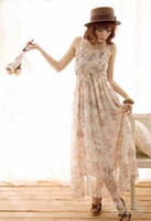 Wholesale Gypsy Boho Hippie Cotton Long Skirt Halter Dress Wedding Gift Lover Lady Girl Q97