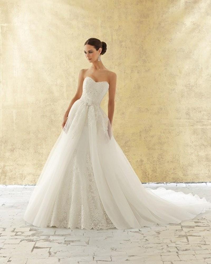 Wholesale sweetheart lace wedding dresses with detachable for China wholesale wedding dress