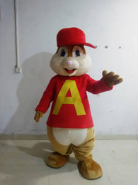 2015 NEW Adult alvin mascot costume ALVIN costume with hat free logo EVA head for sale