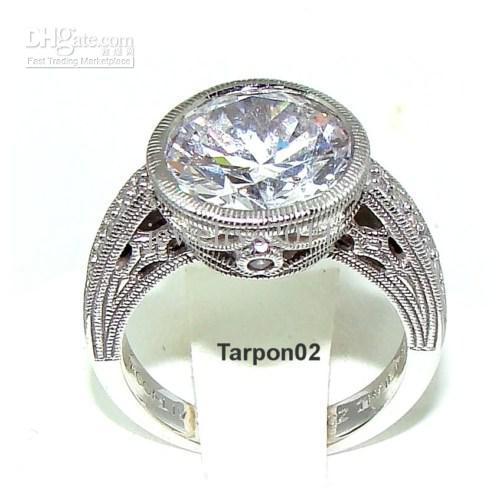 tacori epiphany diamonique 415ct bezel set qvc ring 6 - Qvc Wedding Rings