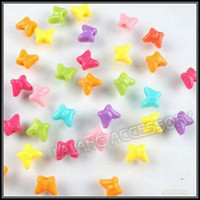 Wholesale Assorted Butterfly Plastic Beads Jewelry Making Beads mm Fit Bracelet DIY