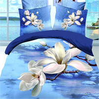 beautiful duvet - Beautiful Scenic D Bedding Sets Duvet Cover Bed Sheets Pillowcases Bedding Supplies Fashion Flowers Cotton Printing Queen Size Bedding Set
