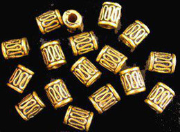 210pcs Alloy Metal Antiqued gold plt wire curved tube spacer bead A48G
