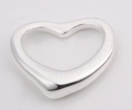 New heart Necklace pendants 925 Silver fit charms necklace JOS012