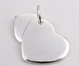 New 925 Silver Necklace pendants Double hearts fit charms necklace JOS015