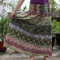 Cotton Cotton Long 2011 New Gypsy Boho Hippie Cotton Long Skirt Halter Dress Wedding Gift Lover Lady Girl Q214
