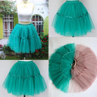 achat en gros de jupe tutu vert adulte-2015 Real Image Tutu Jupes Hunter Green Tulle Jupes Pour Adultes Custom Made Layered Cheap Party Prom Dresses Femmes ChildrenTulle Jupes