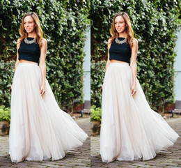 Wholesale 2016 ivory Long Length Layered Tulle Tutu Skirts For Adults Custom Made A Line Cheap Party Prom Skirts Women Clothing Cheap