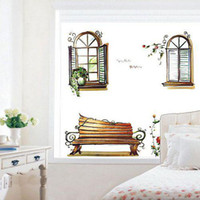 PVC benches for kids - Bedroom living room sofa bench outside the window wall stickers