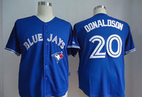 Wholesale 20 Domaldson Jersey Cheap Baseball Jerseys Toronto Blue Jays Home Road White Red Blue Grey Jersey
