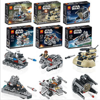 Wholesale 6pcs set Star Wars action figures toys minifigure star war warships spaceship clone troopers ships Building Blocks Compatible toys