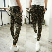 cargo pants for men - Camouflage Harem Military Hip Hop Cargo Pants For Men Mens Joggers Sweatpants Jogging Sport Camo Pants Baggy Gym Pants Pantalones HOMBRE