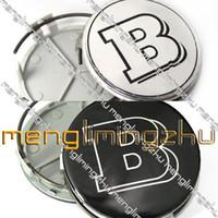 Wholesale NEW Wheel Center Caps Merc ALLOY BLACK BRABUS Emblem Badges mm