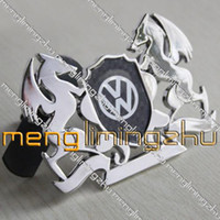 Wholesale NEW Metal Carbon Fiber Hood Grill Mesh VIP VW Golf Bora Badge Emblem