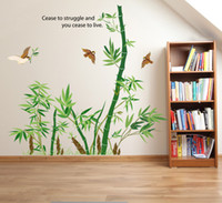 bamboo design wallpaper - Bamboo Forest Wall Art Mural Decor Cease to Struggle and You Cease to live Wall Quote Decal Poster Home Decoration Wallpaper Sticker