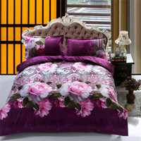 Wholesale Hot fashion high quality D reactive printed bedding set queen size duvet covers comforter bed Linen sets