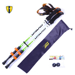 Wholesale Ultra light Adjustable Camping Hiking Walking Trekking Stick Alpenstock Carbon Fiber Shooting Climbing Skiing Trekking Pole