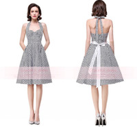 art deco print woman - In Stock Retro Black And White Plaid Cocktail Dresses Sexy Women Popular Halter Backless Printed Design Real Image Graduation Gowns CPS287