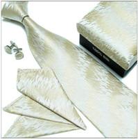 Wholesale mens tie sets wedding ties tie cufflinks hanky silk tie men s ties silk neck ties