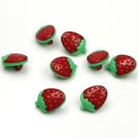 Wholesale 50pcs New Strawberry style mm baby s clothes Sewing Plastic Buttons