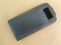 Wholesale NEW leather pouch case for E71 BLACK