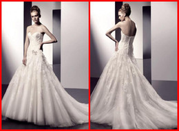 Wholesale 2011Elegant Informal Bridal Wedding Dresses Organza Mermaid Appliques Pleated Floor length Gowns Hot