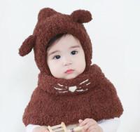baby bear hat crochet pattern - NEW STYLE cat scarf and Little bear hat Baby Kid Toddler Winter Warm Hat Cloak Caps Cape Shawl Rabbit Pattern Wraps