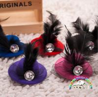 achat en gros de animaux pinces à cheveux-Accessoires pour animaux 10pcs / lot Noble Princess Hat Forme Clips de cheveux de chiens Toilettage pour chiens Arcs Accessorios Para Cachorro CL914