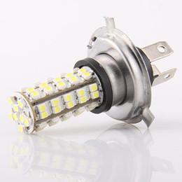 Car H4 3528 SMD 68 LED Light Headlight Bulb Lamp 2pcs lot for free shipping