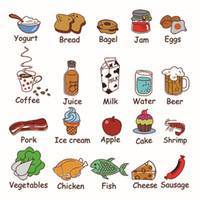 animal food names - Food Drink and English Name Wall Art Mural Decor Kitchen Room Wall Decal Sticker Vegetable Fruit Coffee Wall Applique