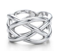 Wholesale Jewelry Brand X man sterling Silver Rings ring Silver plated