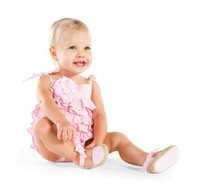 Wholesale Baby climbing clothes Woven Pink Flowers Sling jumpsuit