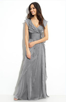 Reference Images adrianna papell chiffon gown - Adrianna Papell Lotus Leaf Chiffon Gown Mother of the Bride Dresses gt A01