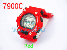 1pcs hot relogio 7900 men's sports watches, LED chronograph wristwatch, military watch, digital watch, good gift for men & boy, dropship