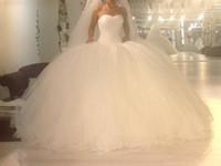 Wholesale Fall wedding dress puffy the marriage gauze of pure honey modest new gauze Vestios DE death vertical coil net