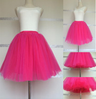 adult tutu hot pink skirt - Custom made Short layers Tulle Skirt Adult Princess Tutu for Birthday Bridesmaid Above Knee Length cm Hot Pink Black White All colors