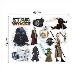 Wholesale Star Wars Wall Stickers Home Decor D Cartoon Movie Death Start Artwork Removable Wallpaper Kids Room Decor Art cm best