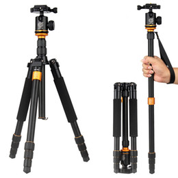 Wholesale 2015 New Upgrade Q999S Professional Photography Portable Aluminum Ball Head Tripod To Monopod For Canon Nikon Sony DSLR Camera