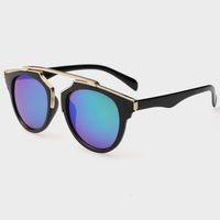 acrylic mirror glass - Fashion Vintage Women Sunglasses Round Mirror Sun Glasses Men Retro Eyewear Unisex gafas sunglasses Oculos de so JW243