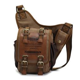 Vintage Men Shoulder Military Messenger Bag Shoulder Cross Sling Travel Canvas Leather Satchel Backpack Retro Male Knight School Bag