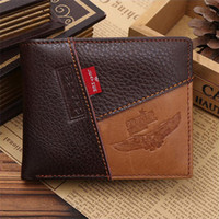 Wholesale Hot Sales Mens Wallets Coin Purse Credit ID Card Holders Bag Genuine Leather Bifold Vintage Fashion EK24