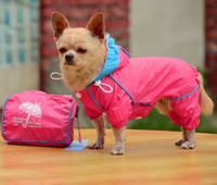 Wholesale Small Pet Dog Hoody Jacket Rain Coat Waterproof Clothes Slicker Jumpsuit Apparel hight quality