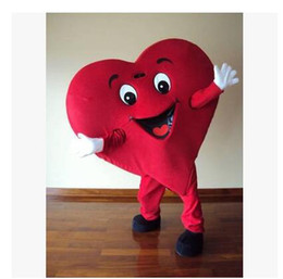 High quality Classical style Red Heart Adult Mascot Costume For Valentine's day Adult Size Fancy Dress Cartoon Outfits Suit