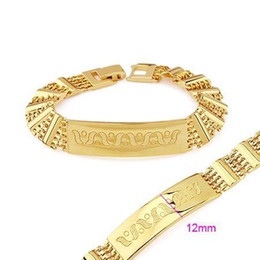 free shipping noble women yellow gold filled bracelet chain 195mm h