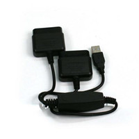 For PS2   PC PS2 to PS3 Game Controller Adapter Changer USB Converter for PC PS2 PS3 100pcs lot