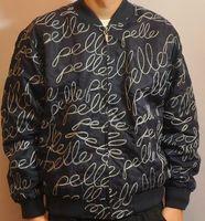 pelle pelle - new arrival quality PELLE PELLE men s hip hop raised embroidered jacket size M L black dark blue