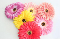 Wholesale many colors for your choose Daisy silk flower hair clip Gerbaer hair holder bag accessories